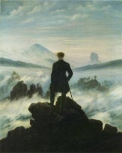 Man wanders lonely as a cloud; meditates.