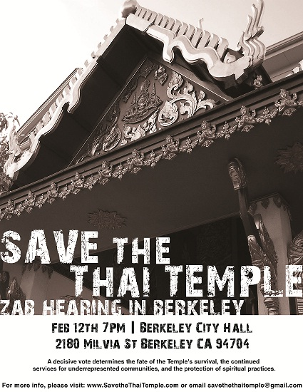 Save the Thai Temple!