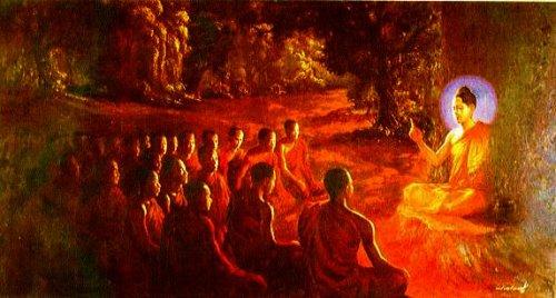 Lord Buddha teaching
